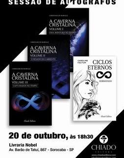 """""""A Caverna Cristalina"""" também na Livraria NOBEL de SOROCABA!"""