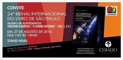 """""""A Caverna Cristalina"""" na Bienal do livro de São Paulo"""